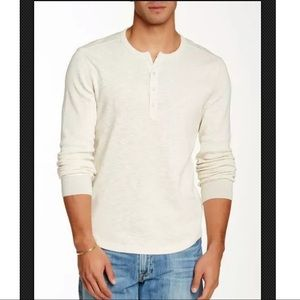 Lucky Brand Twisted Slub Cream Thermal Shirt L
